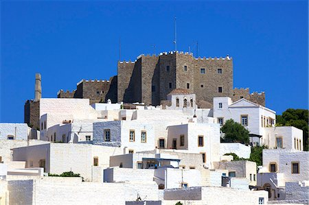 Monastery of St. John at Chora, UNESCO World Heritage Site, Patmos, Dodecanese, Greek Islands, Greece, Europe Stock Photo - Rights-Managed, Code: 841-08357249