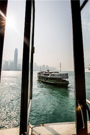 Star Ferry with Hong Kong in the background, Hong Kong, China, Asia Stock Photo - Rights-Managed, Code: 841-08357495