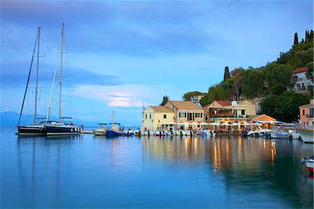 Loggos Harbour, Paxos, The Ionian Islands, Greek Islands, Greece, Europe Stock Photo - Rights-Managed, Code: 841-08421158