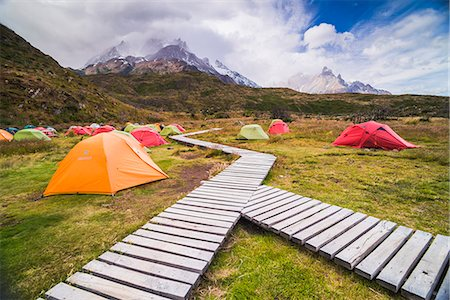 Camping in Torres del Paine National Park, Patagonia, Chile, South America Stock Photo - Rights-Managed, Code: 841-08438507