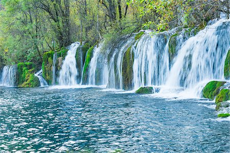 Arrow Bamboo Lake Waterfalls, Jiuzhaigou National Park, UNESCO World Heritage Site, Sichuan Province, China, Asia Stock Photo - Rights-Managed, Code: 841-08438563