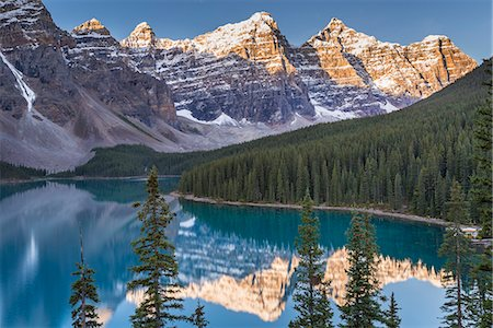 Moraine Lake and the Valley of the Ten Peaks, Rockies, Banff National Park, UNESCO World Heritage Site, Alberta, Canada, North America Stock Photo - Rights-Managed, Code: 841-08438789