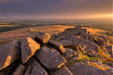 dartmoor national park - Magical light illuminating Belstone Tor in Dartmoor, Devon, England, United Kingdom, Europe Stock Photo - Rights-Managed, Code: 841-08438780