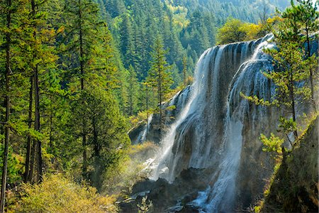 Pearl Shoal Waterfall, Unesco World Heritage Site, Jiuzhaigou National Park, Sichuan Province, China, East Asia Stock Photo - Rights-Managed, Code: 841-08527715