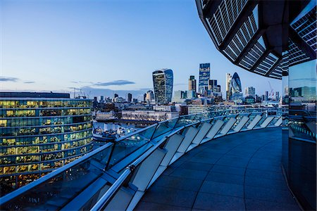 View from City Hall rooftop over City of London skyline, London, England, United Kingdom, Europe Stockbilder - Lizenzpflichtiges, Bildnummer: 841-08527806