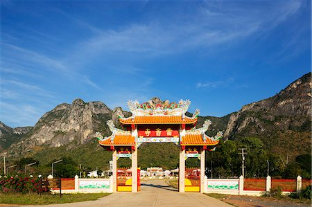 Chinese temple, Khao San Roi Yot National Park, Prachuap Kiri Khan, Thailand, Southeast Asia, Asia Stock Photo - Rights-Managed, Code: 841-08542707