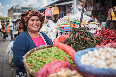 Portrait of a market stall owner in Berastagi (Brastagi) Market, North Sumatra, Indonesia, Southeast Asia, Asia Stock Photo - Rights-Managed, Code: 841-08568798