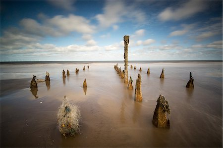 Spurn Point, Spurn Head, Groynes, Yorkshire, England, United Kingdom, Europe Stock Photo - Rights-Managed, Code: 841-08568867