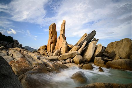 Granitic boulders in Vinh Hy bay, Nui Cha National Park, Ninh Thuan province, Vietnam, Indochina, Southeast Asia, Asia Stock Photo - Rights-Managed, Code: 841-08568902