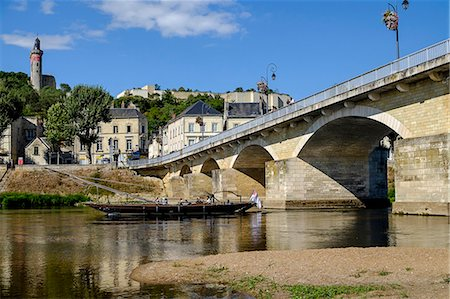 Bridge over the Vienne River, Chinon, Indre et Loire, Centre, France, Europe Stock Photo - Rights-Managed, Code: 841-08568910