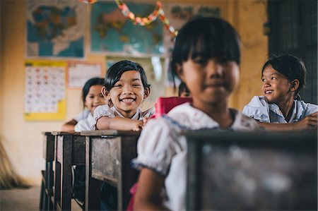 Primary school, Pong Teuk, Cambodia, Indochina, Southeast Asia, Asia Stock Photo - Rights-Managed, Code: 841-08568935