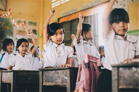Primary school, Pong Teuk, Cambodia, Indochina, Southeast Asia, Asia Stock Photo - Rights-Managed, Code: 841-08568936