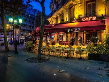 european bar building - Parisian cafe, Paris, France, Europe Stock Photo - Rights-Managed, Code: 841-08568947