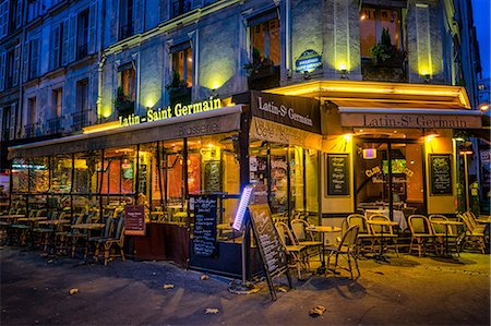 european bar building - Parisian cafe, Paris, France, Europe Stock Photo - Rights-Managed, Code: 841-08568948