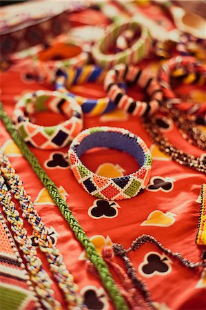 Detail of the beadworks created by the women's groups in Kenya, East Africa, Africa Stock Photo - Rights-Managed, Code: 841-08568943