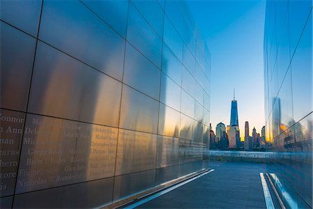 Empty Sky memorial to New Jerseyans lost during 911 attacks on the World Trade Center, Liberty State Park, Jersey City, New Jersey, United States of America, North America Stock Photo - Rights-Managed, Code: 841-08569025