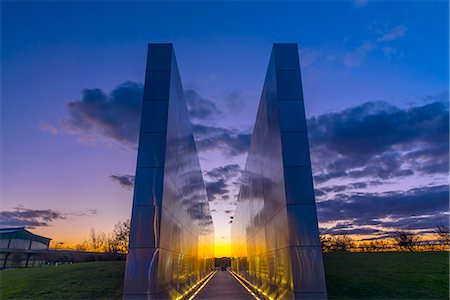 Empty Sky memorial to New Jerseyans lost during 911 attacks on the World Trade Center, Liberty State Park, Jersey City, New Jersey, United States of America, North America Stock Photo - Rights-Managed, Code: 841-08569027