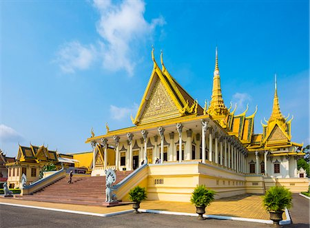 Throne Hall (Preah Thineang Dheva Vinnichay) of the Royal Palace, Phnom Penh, Cambodia, Indochina, Southeast Asia, Asia Stock Photo - Rights-Managed, Code: 841-08645316
