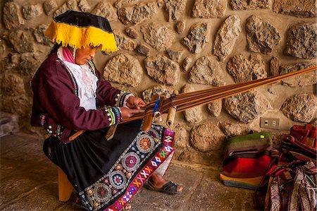 peru and culture - Traditional Peruvian woman weaver, Cusco, Peru, South America Stock Photo - Rights-Managed, Code: 841-08645352