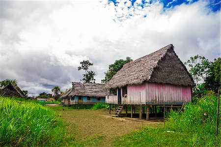 peru and culture - Amazon Village, Iquitos, Peru, South America Stock Photo - Rights-Managed, Code: 841-08645361
