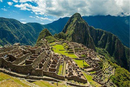 peru and culture - View of Huayna Picchu and Machu Picchu Ruins, UNESCO World Heritage Site, Peru, South America Stock Photo - Rights-Managed, Code: 841-08645410