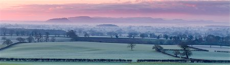 Panoramic view of Beeston Castle and the Peckforton Hills on a frosty winter morning over the Cheshire plain, Cheshire, England, United Kingdom, Europe Stock Photo - Rights-Managed, Code: 841-08729511