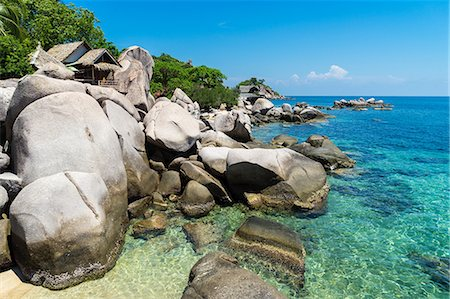 A bungalow has the perfect view on the shore in Koh Tao, Thailand, Southeast Asia, Asia Stock Photo - Rights-Managed, Code: 841-08781811