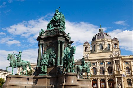 Maria Theresa Monument and Museum of Natural History, Vienna, Austria, Europe Stock Photo - Rights-Managed, Code: 841-08797919