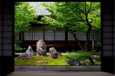 Inner moss garden, Kennin-ji temple, Kyoto, Japan, Asia Stock Photo - Rights-Managed, Code: 841-08797923