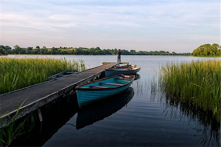 Fisherman, Upper Lough Erne, Co. Fermanagh, Ulster, Northern Ireland, United Kingdom, Europe Stock Photo - Rights-Managed, Code: 841-08821626