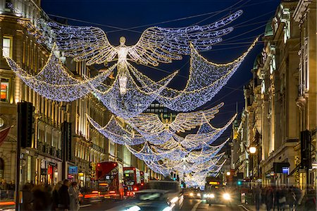 Regent Street Christmas lights 2016, London, England, United Kingdom, Europe Stock Photo - Rights-Managed, Code: 841-08860966