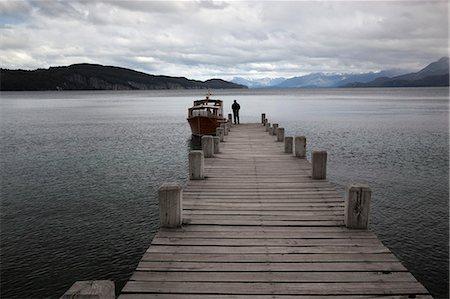 Pier on Lake Nahuel Huapi, Villa La Angostura, Nahuel Huapi National Park, The Lake District, Argentina, South America Stock Photo - Rights-Managed, Code: 841-08861102