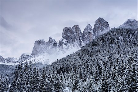 The Odle Mountains in the Val di Funes, Dolomites. Stock Photo - Rights-Managed, Code: 841-08887524