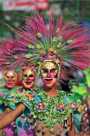 pictures philippine festivals philippines - Portrait of a masked dancer in colourful costume at Mardi Gras carnival, in Iloilo City on Panay Island, Philippines, Southeast Asia, Asia Stock Photo - Rights-Managed, Code: 841-02704017
