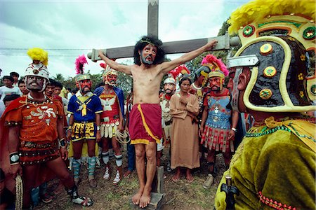 pictures philippine festivals philippines - Easter Holy Week Way of the Cross procession and crucifixion during annual Moriones festival in the Philippines, Southeast Asia, Asia Stock Photo - Rights-Managed, Code: 841-02704073