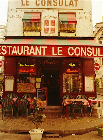 Cafe restaurant, Montmartre, Paris, France, Europe Stock Photo - Rights-Managed, Code: 841-02706648