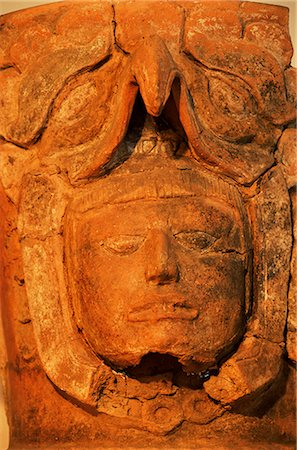 Mayan funerary urn, Popol Vuh Museum, Guatemala City, Guatemala, Central America Stock Photo - Rights-Managed, Code: 841-02709548