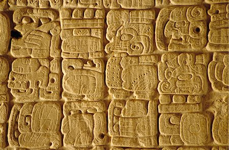 Mayan carvings on Stela, Tikal, Guatemala, Central America Stock Photo - Rights-Managed, Code: 841-02709542