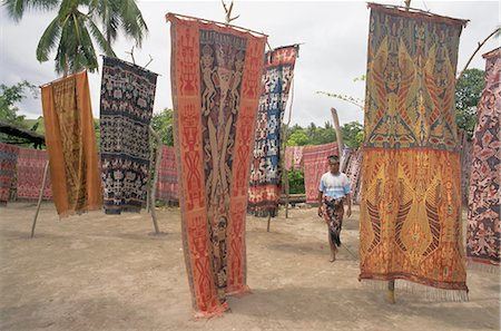 Ikat cloths for sale, Sumba (Soemba) , Lesser Sundas, Indonesia, Southeast Asia, Asia Stock Photo - Rights-Managed, Code: 841-02703391