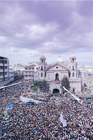 pictures philippine festivals philippines - Crowds of pilgrims and devotees, Black Nazarene festival, downtown, Quiapo, Manila, Philippines, Southeast Asia, Asia Stock Photo - Rights-Managed, Code: 841-02703977