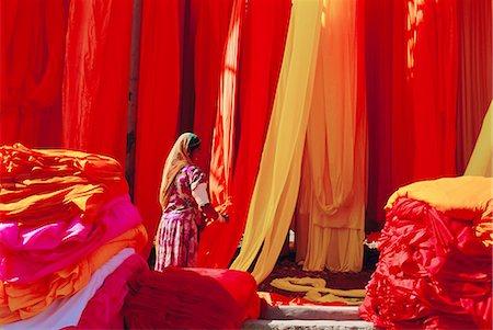 Sari garment factory, Rajasthan, India Stock Photo - Rights-Managed, Code: 841-02714294
