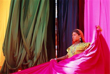 Sari garment factory, Rajasthan, India Stock Photo - Rights-Managed, Code: 841-02714290