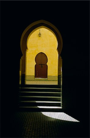 The tomb of Moulay Ismail, Meknes, Morocco, North Africa, Africa Stock Photo - Rights-Managed, Code: 841-02714635