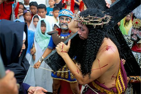 pictures philippine festivals philippines - Christ of Calvary in Easter procession, Morionnes, island of Marinduque, Philippines, Southeast Asia, Asia Stock Photo - Rights-Managed, Code: 841-02715488