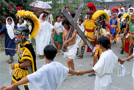 pictures philippine festivals philippines - Christ of Calvary in Easter procession, Morionnes, island of Marinduque, Philippines, Southeast Asia, Asia Stock Photo - Rights-Managed, Code: 841-02715489