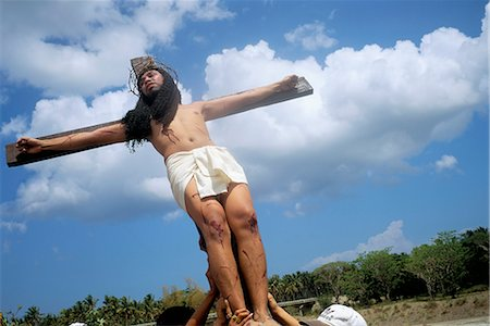 pictures philippine festivals philippines - Crucifixion, Christ of Calvary, Easter procession, Morionnes, island of Marinduque, Philippines, Southeast Asia, Asia Stock Photo - Rights-Managed, Code: 841-02715491