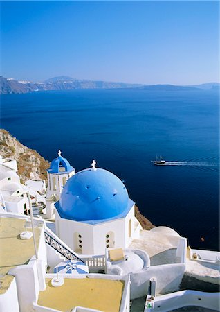 Thira (Fira), Santorini, Cyclades Islands, Greece, Europe Stock Photo - Rights-Managed, Code: 841-02715938