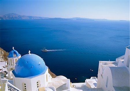 Thira (Fira), Santorini, Cyclades Islands, Greece, Europe Stock Photo - Rights-Managed, Code: 841-02715939
