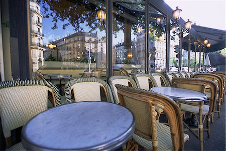 Chairs and tables at a cafe, Paris, France, Europe Stock Photo - Rights-Managed, Code: 841-02716028