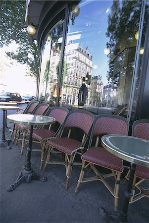 Chairs and tables at a cafe, Paris, France, Europe Stock Photo - Rights-Managed, Code: 841-02716029
